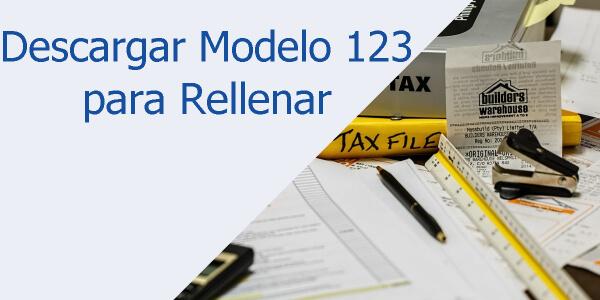 Descargar Modelo 123 para rellenar