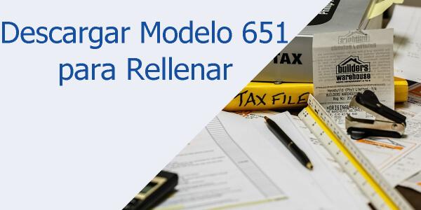 Descargar Modelo 651 para rellenar